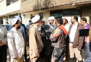 حضور رئیس سازمان تبلیغات اسلامی در مناطق سیلزدهی استان لرستان